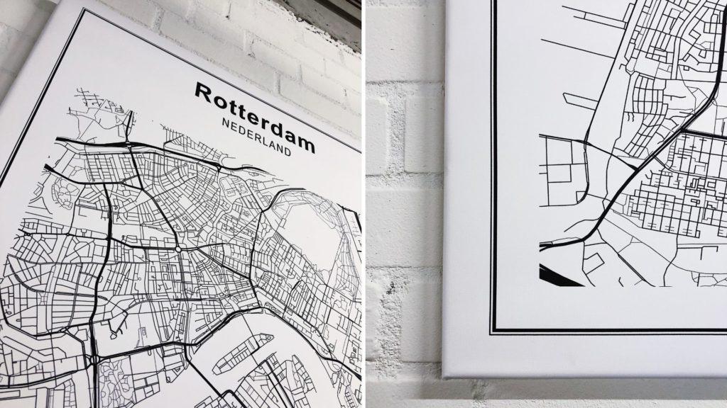 Wereldkaart Rotterdam