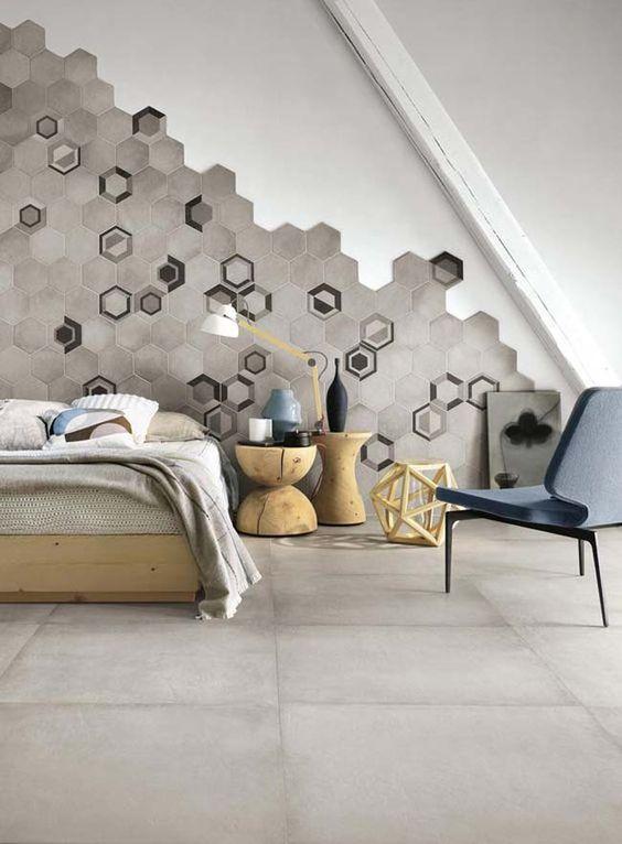 hexagon tegels behang