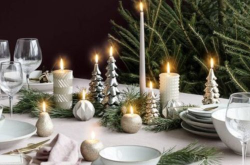 Kersttafel decoreren