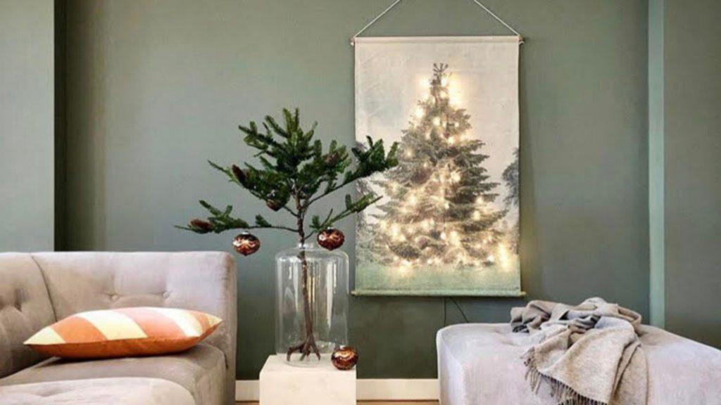kerst interieur zonder boom