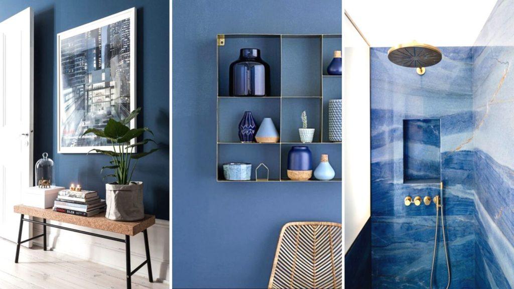 interieur blauw