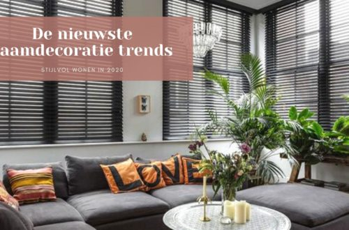 Raamdecoratie trends 2020