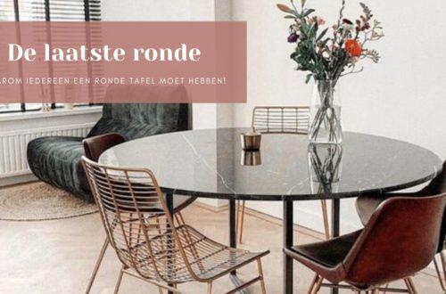 Ronde tafel in huis
